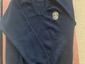 Selling with online payment: Epsom College Navy  Pullover