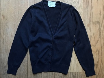 Selling with online payment: Age 6-7, M&S, Navy, Cardigan
