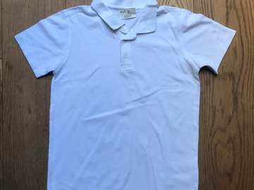 Selling with online payment: Age 10, George, White, Short-sleeved Polo