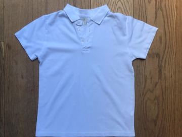 Selling with online payment: Age 10, M&S, White, Short-sleeved Polo