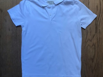 Selling with online payment: Age 10, Tu, White, Short-sleeved Polo