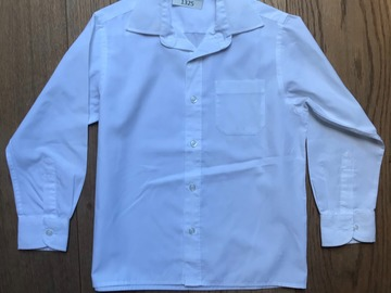 Selling with online payment: Age 6, M&S, White, Long-sleeved Shirt