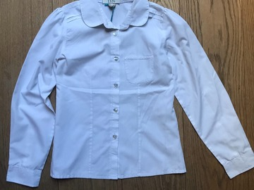 Selling with online payment: Age 10, Tu, White, Long-sleeved Blouse
